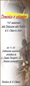750° della Dedicazione della Basilica di S.Chiara in Assisi