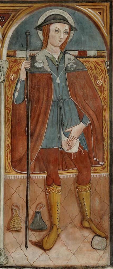 Francesco Tartaglia, san Rocco (1527), Cappella del Crocifisso, Basilica di santa Chiara, Assisi.